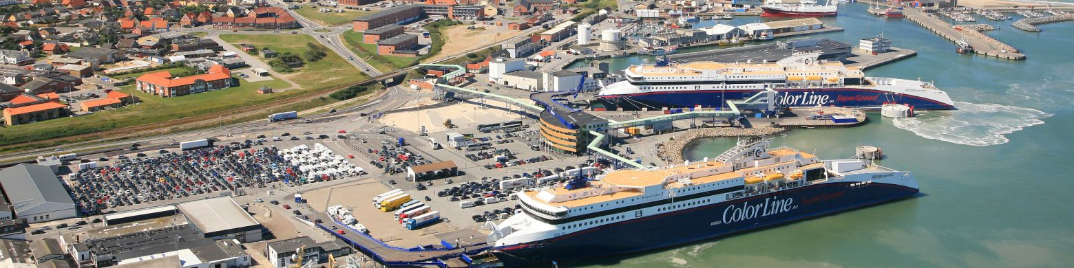 Terminal Habor in Hirtshals with SuperSpeed 1 and SuperSpeed 2